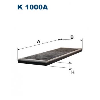 Filtron K 1000A - kabinovy filtr