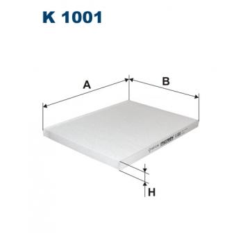 Filtron K 1001 - kabinovy filtr