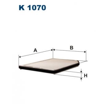 Filtron K 1070 - kabinovy filtr
