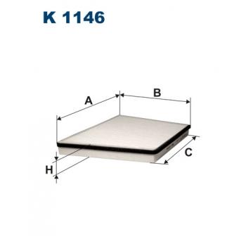 Filtron K 1146 - kabinovy filtr