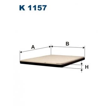 Filtron K 1157 - kabinovy filtr