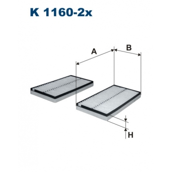 Filtron K 1160-2X - kabinovy filtr