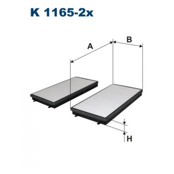 Filtron K 1165-2X - kabinovy filtr