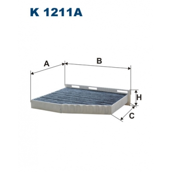 Filtron K 1211A - kabinovy filtr