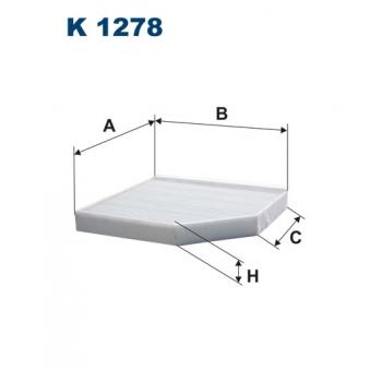Filtron K 1278 - kabinovy filtr