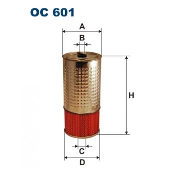 Filtron OC 601 - olejovy filtr