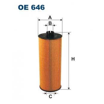 Filtron OE 646 - olejovy filtr