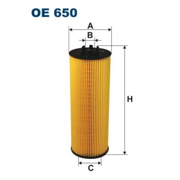 Filtron OE 650 - olejovy filtr