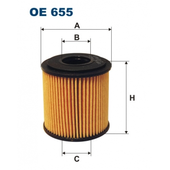 Filtron OE 655 - olejovy filtr