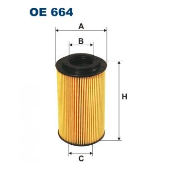 Filtron OE 664 - olejovy filtr