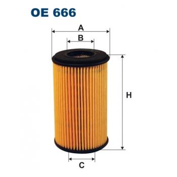 Filtron OE 666 - olejovy filtr