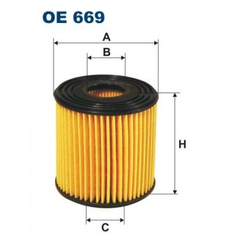 Filtron OE 669 - olejovy filtr