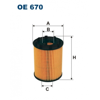 Filtron OE 670 - olejovy filtr