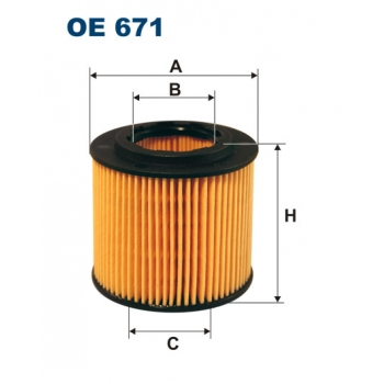 Filtron OE 671 - olejovy filtr