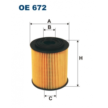 Filtron OE 672 - olejovy filtr