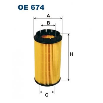 Filtron OE 674 - olejovy filtr