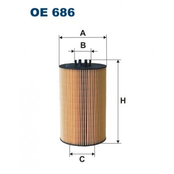 Filtron OE 686 - olejovy filtr