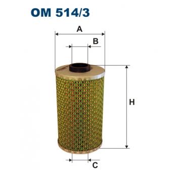 Filtron OM 514/3 - olejovy filtr
