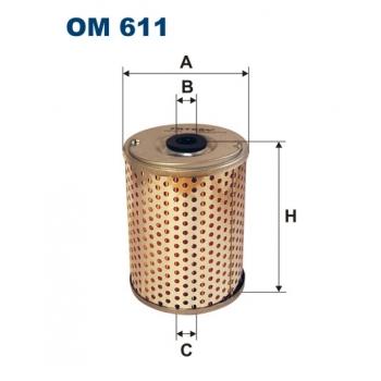 Filtron OM 611 - olejovy filtr