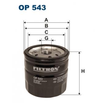 Filtron OP 543 - olejovy filtr