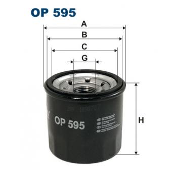 Filtron OP 595 - olejovy filtr