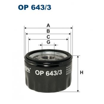 Filtron OP 643/3 - olejovy filtr